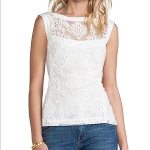 Nanette Lepore be happy top white size 2